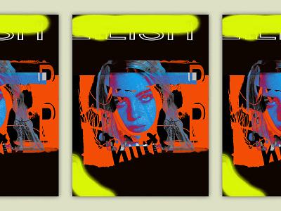 Billie graffiti collage poster billie eilish