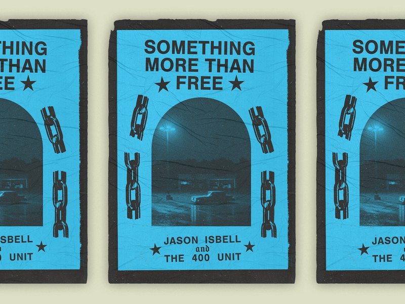 Jason Isbell Poster americana music freedom car chains star jason isbell gig poster poster