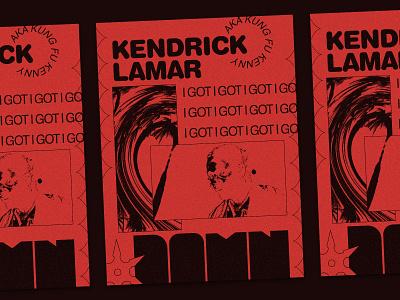 Damn kungfu hiphop rap poster damn kendrick lamar