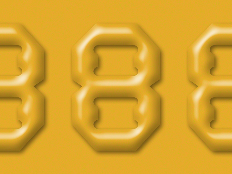 888 brutalism eight 8 numbers
