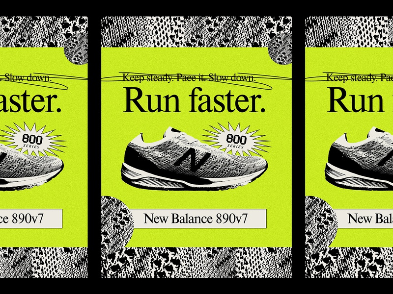 890v7 poster shoe athletic sports marathon running runner run