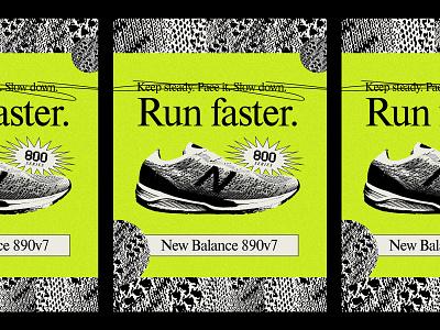 890v7 poster shoe athletic sports marathon running runner run