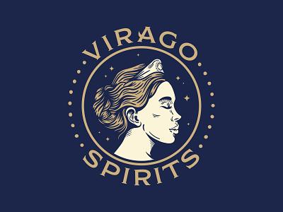 Virago Diana Shirt roman spirits spirit typogaphy badge hair greek mythology mythology greek goddess diana virago