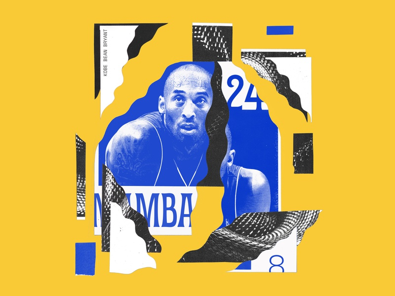 MAMBA collage snake lakers basketball nba kobe bryant