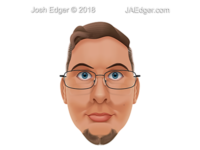 All-Vector [Normal Ver.] Self-Portrait josh-edger jaedger gradient mesh illustration illustrator vector self portrait