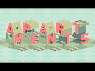 Apartments/Typography Art Vector Logo 2019 logo typography apartments illustration illustrator vector jaedger josh edger