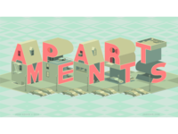 Apartments/Typography Art Vector Logo