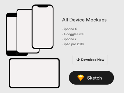 All Device Mockups Clay Style
