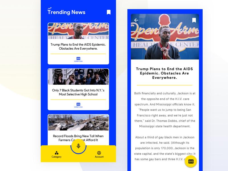 Material Guided UI minimal typography design branding app breaking news iphonex vector icon yellow blur material design ux ui