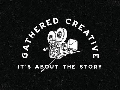 Gathered Creative story logo film reel retro supply creative texture camera film gathered creative