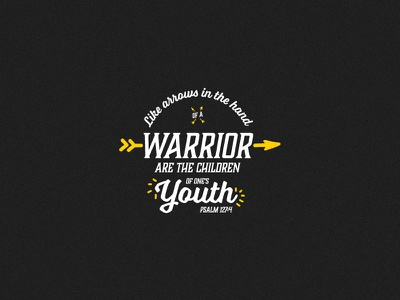 Psalm 127:4 Scripture Poster warrior arrow black and yellow black yellow bible verse psalm 127:4 psalm 127 bible scripture