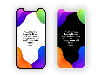 Saul Bass Quote Phone Background phone background background phone gradient design orange blue purple green gradient quote beautiful saul bass