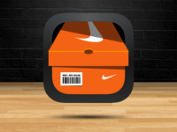 Nike Shoebox App Icon sketchapp nike shoes kicks conceptual app icon ios7 apple sketch3