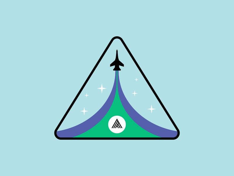 Ascend Sticker Badge thoughtspot spaceship stars ascend outer space sticker branding rocket space logo badge badge vector digital illustration illustration