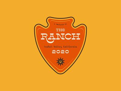 Weekend At The Ranch country western logo design logo badge arrowhead arrow horseshow outside california western cowboy country ranch typography badge logo vector digital illustration illustration