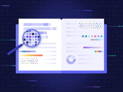 Data Literacy digital knowledge reading explore book pattern data analytics digital transformation data fluency data literacy data blog vector digital illustration illustration