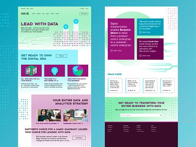 Landing Page 04 tech data pattern ui design web landing page concept website design website landing page ux ui design branding digital illustration illustration
