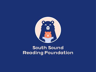 Foundation Logo nonprofit childrens illustration education learning mama bear baby bear bear childrens book reading children typography branding logo digital illustration illustration
