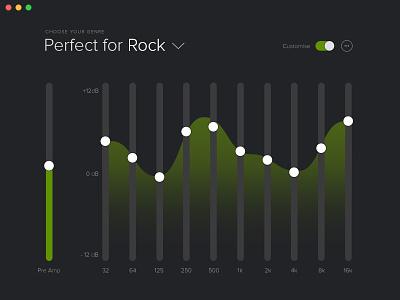 Spotify Equalizer spotify ui equalizer slider waveform wave
