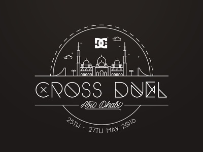 DC Shoes - Cross Duel event logo icon line badge