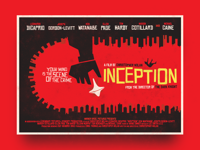 Inception Poster abstract vector movie inception bass saul poster