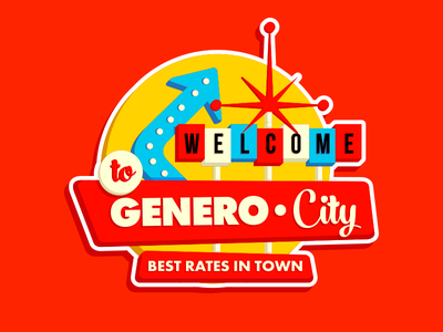 Welcome to Genero•City retro century mid mule sticker