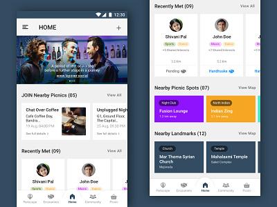 UI Mockups - Layover App sketch ui mockup connecting networks app