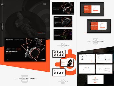 SteelSeries Concept Website creative headphones simple colorful modern webdesign concept steelseries