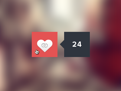 The Loop 'Love Button' button like love counter