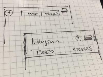 Instagram Split Feed? interface product design architecture