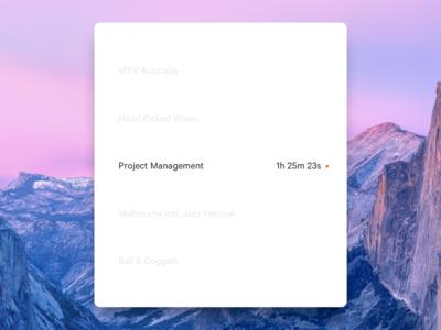 Timer input screen for Tiller timetracking tiller desktop