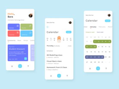 Student Calendar - Mobile app