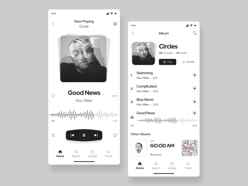 Music Player App uiux ui design uidesign music player black mobile app design mobile design mobile app mobile ui music app music icon clean mobile ui design app