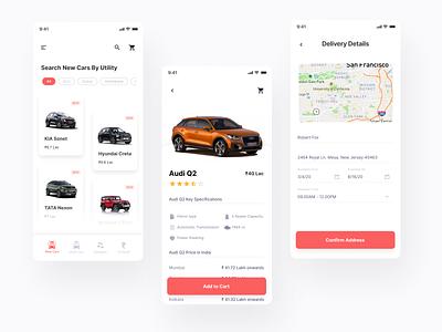 Car shopping App car buy car dealership app dms online shopping zero contact sales online buying ux ui mobile app design product design