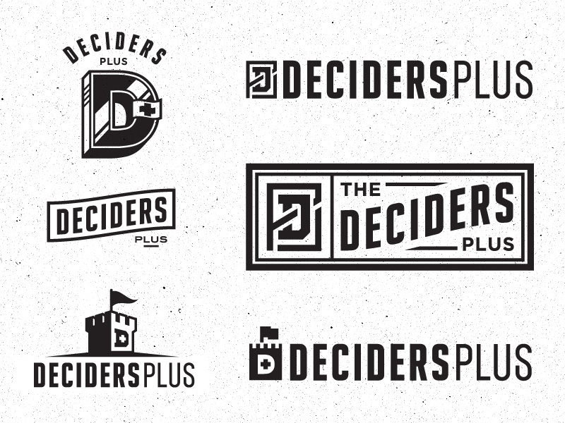 Deciders Plus Logo logo logotype vector progress icon branding