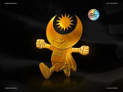 Bulan Bintang Emas merdeka kualalumpur iqbalhakimboo nftasia nftcommunity malaysianft malaysiadaynft nftcollectables graphic gold emblem malaysia nft