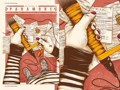 Paramore - Live in Kuala Lumpur poster kuala lumpur paramore illustration
