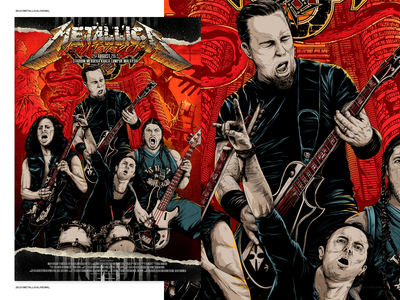 Metallica live in Kuala Lumpur malaysia kuala lumpur metal rock metallica poster illustration