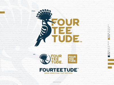 Fourteetude® malaysia kuala lumpur branding logotype logomark icon vector brand logo clothing