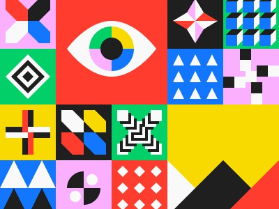 Pattern tile branding business cards mural cube square block minimal background pattern shape geometric flat design