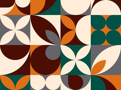 Mural pattern design pallete green composition identity vector block cube swiss paper background pattern design geometric flat