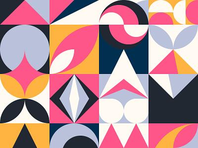Stylish pattern background shape square design block dadaism swiss pattern 2d geometric flat