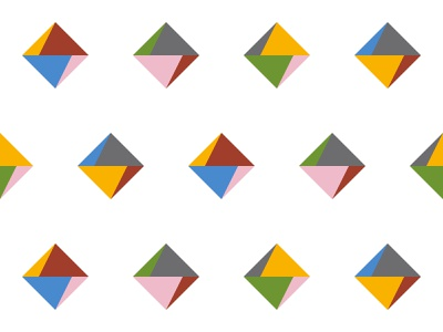 Abstract geometric vector pattern rhombus seamless illustrator colorful minimal 2d paper abstract shape background pattern flat design geometric