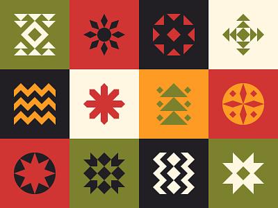 Xmas Pattern Retro Geometric neo geo modernism soviet bundle square xmas card logotype mark symbol logo minimal paper 2d abstract shape flat pattern geometric design