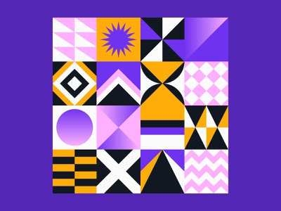 Geometric Pattern Bundle modern adobe illustrator block vector abstract background square shape graphic gradient geometric pattern design branding