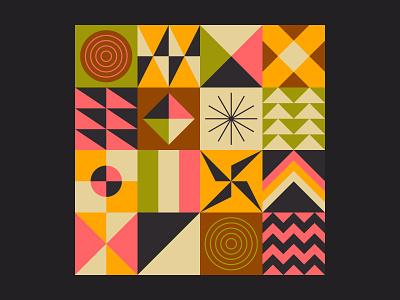 Geometric Pattern Bundle paper abstract square design cover grid illustration shape background pattern geometric