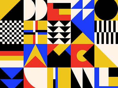 Bauhaus pattern swiss bauhaus design illustration free vector abstract background shape pattern geometric