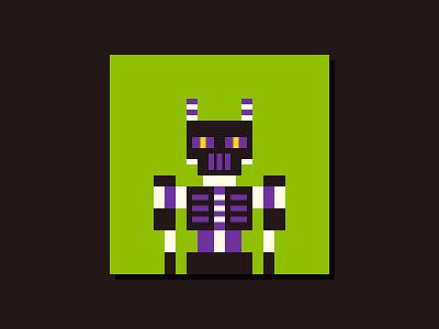 "Soviet Robot ""Skull"" nftart nftartist pixel robot crypto digital art nft flat shape abstract design geometric"