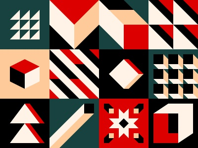 Pattern paper abstract block cube square tile pattern background shape design geometric
