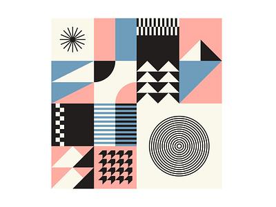 Seamless Geometric Patterns Bundle block retro swiss packaging 2d bundle pattern paper shape geometric design flat